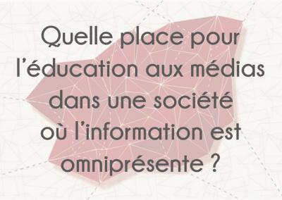 Mémoire sur l'éducation aux médias